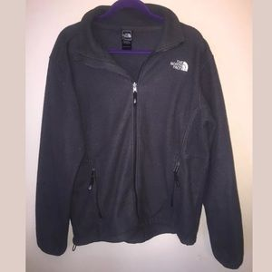 Men's North Face Fleece Jacket Shirt gray L!